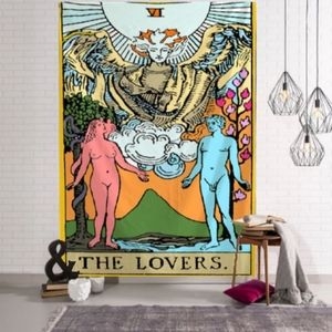 🆕 XL The Lovers Tarot Card Tapestry